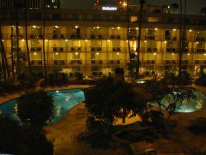 マリオットホテルのプール