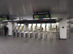 ニューヨーク地下鉄の改札
