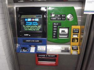 ニューヨーク地下鉄の券売機